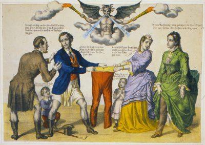 Kampf um die Hose, um 1850/60