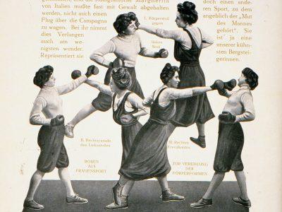 Preisboxerinnen, 1910