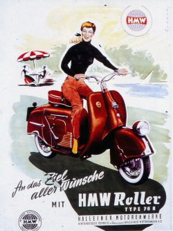 Motorbiene, um 1956